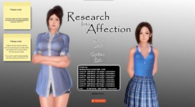 Research Into Affection 0.6.10 PC Game Free Download for Mac